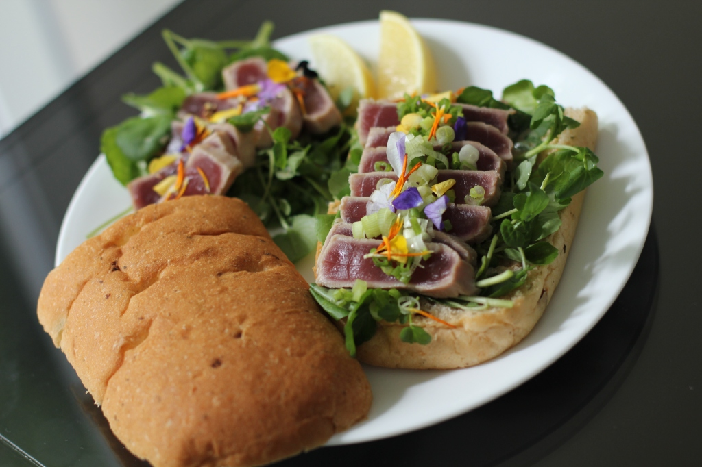 Seared Tuna and Watercress sandwich