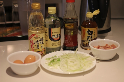 Oyakodon ingredients
