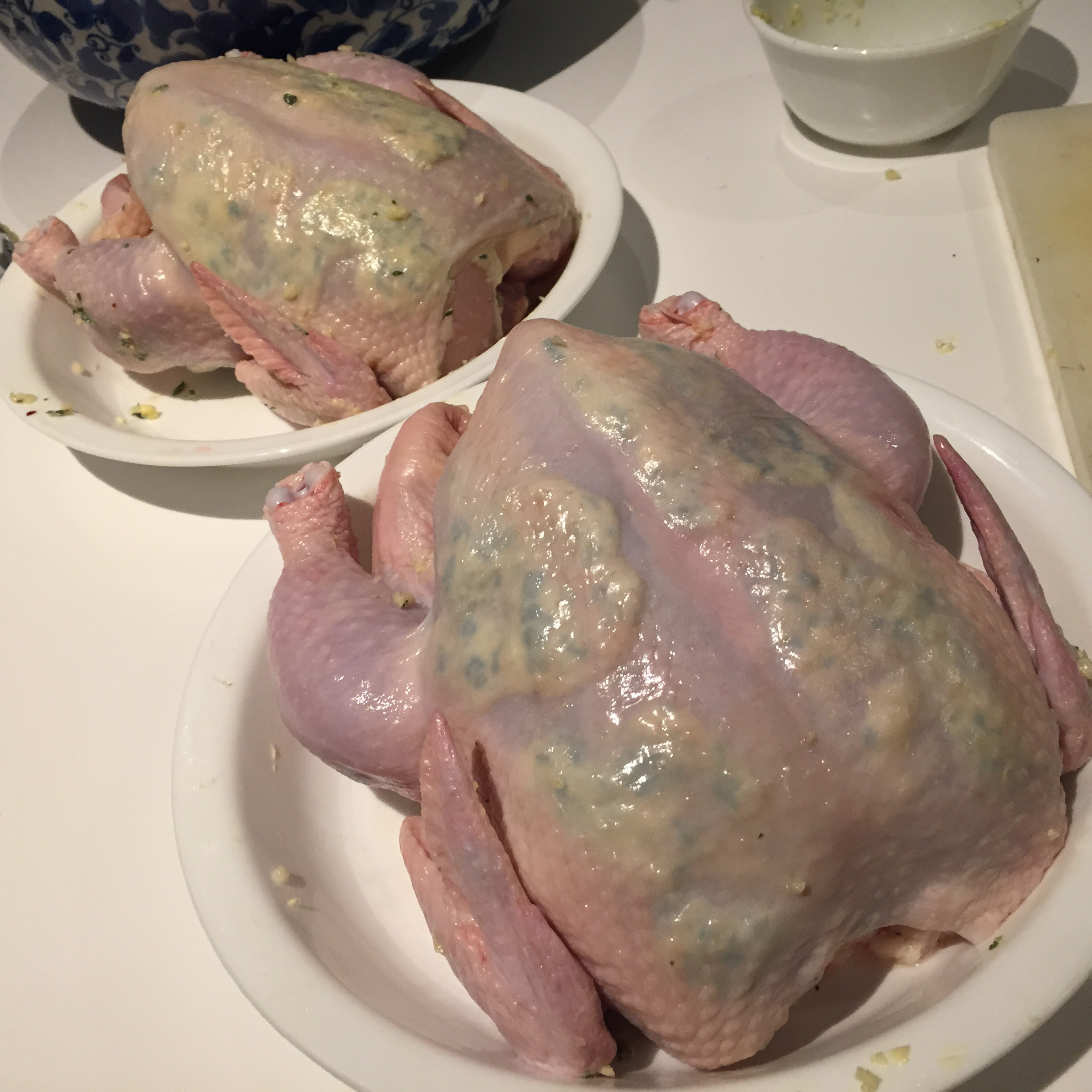 Chicken myhumblefood gently separate the skin from the meat of the breast and spread the herb butter on the meat underneat the skin if you can get to it try to spread it onto ccuart Images